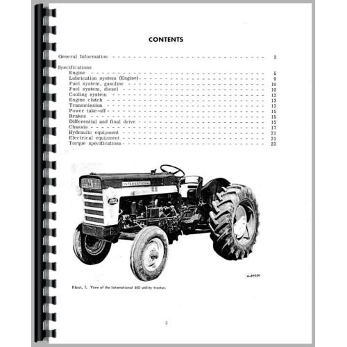 Farmall 460 Tractor Service Manual (1958-1963) (Utility