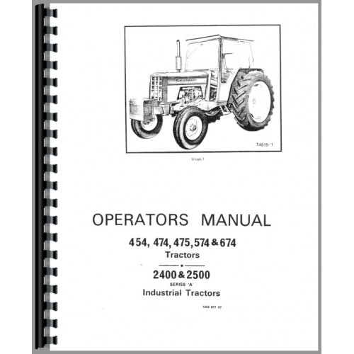International Harvester 674 Tractor Operators Manual