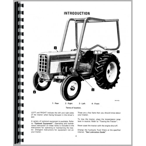 Farmall 574 Tractor Operators Manual (Gas and Diesel Only)