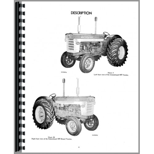 International Harvester 660 Tractor Operators Manual
