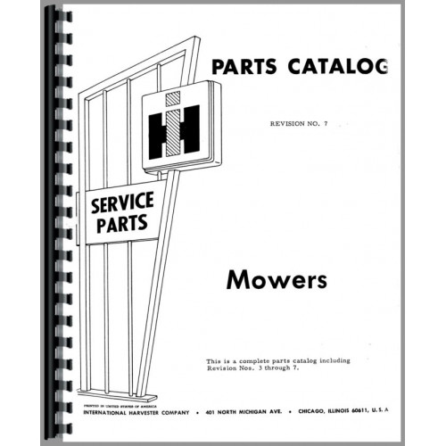 International Harvester 100 Mower Parts Manual