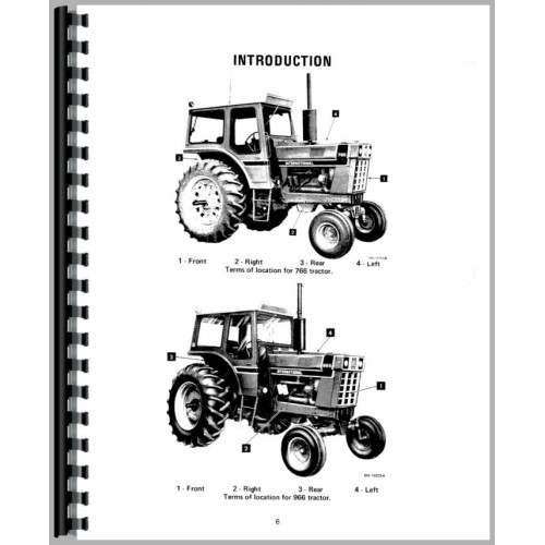 Farmall 766 Tractor Operators Manual
