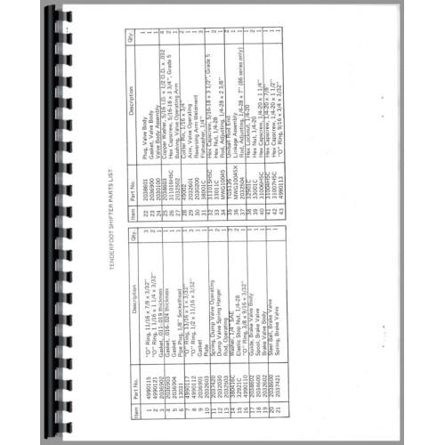 Farmall 806 Tractor Parts Manual (M & W Tenderfoot Shifter)