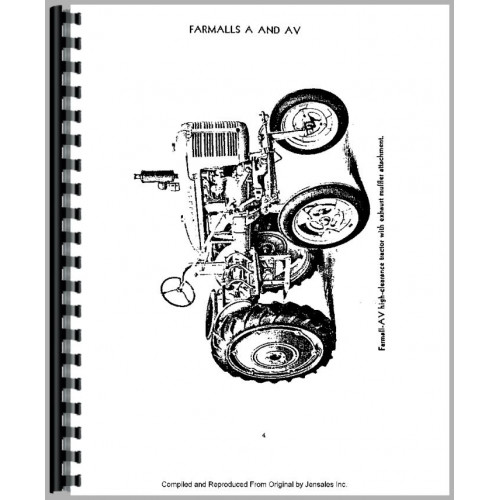 Farmall A Tractor Operators Manual (All) (M & W Tenderfoot
