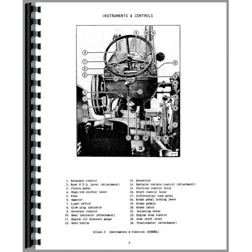 International Harvester B-275 Tractor Operators Manual