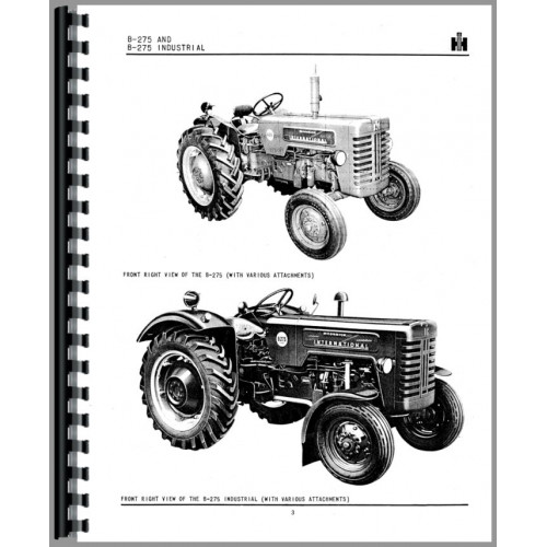 International Harvester B-275 Tractor Parts Manual