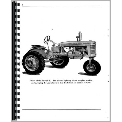 Farmall B Tractor Operators Manual (All)