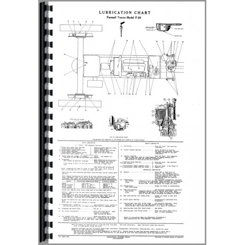 Farmall F20 Tractor Operators Manual