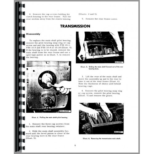 Farmall 340 Tractor Service Manual (Transmission)
