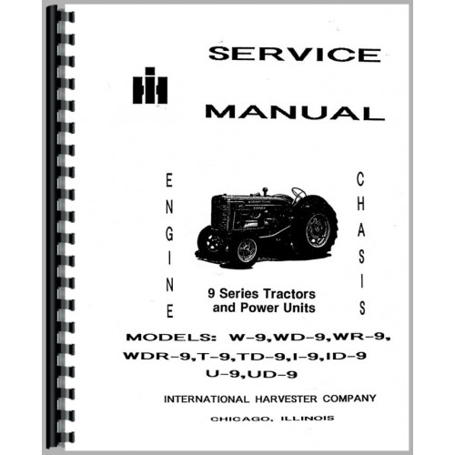 Mccormick Deering WR9 Tractor Service Manual