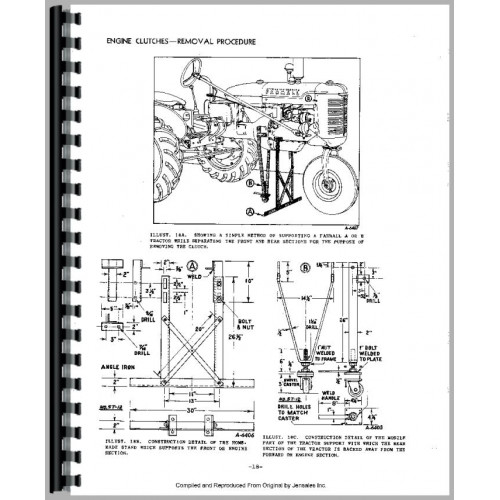 Farmall H Tractor Clutch Service Manual (Clutch)