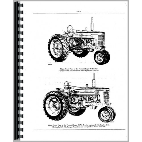 Farmall Super MTA Tractor Parts Manual