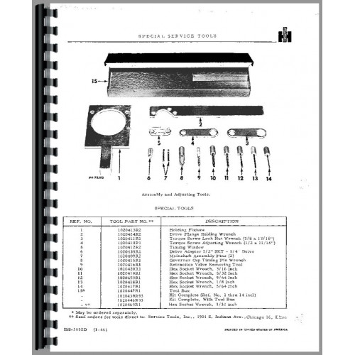 International Harvester RD Injection Pump Service Manual