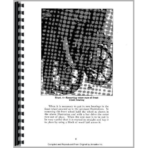 Farmall F20 Tractor Service Manual (1932-1940)