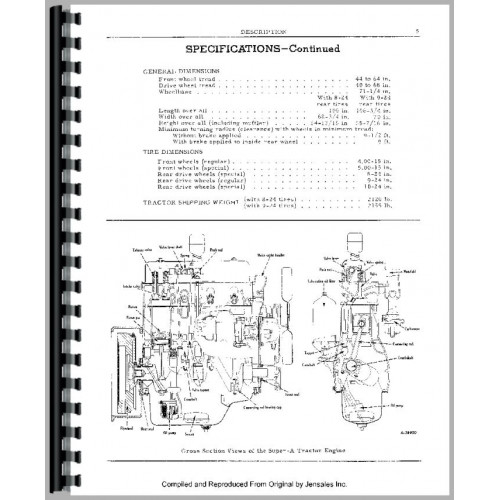 Farmall Super A Culti-vision Tractor Operators Manual