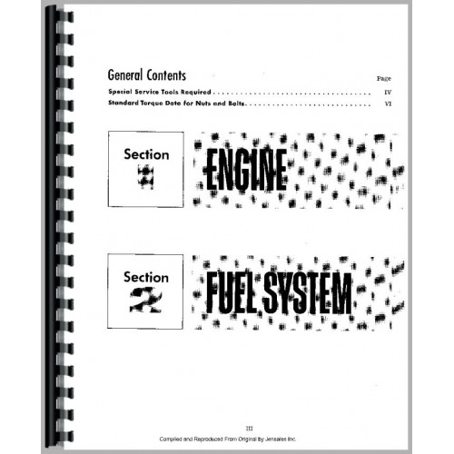 International Harvester 574 Tractor Engine Service Manual
