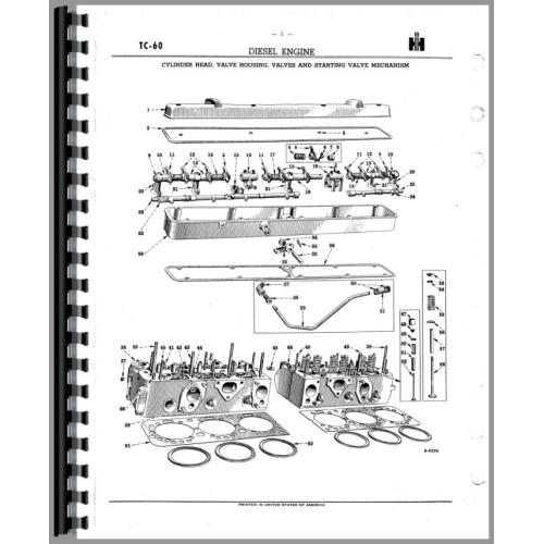 International Harvester TD18A Crawler Parts Manual (SN