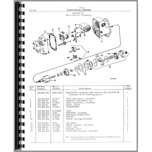 International Harvester TD6 Crawler Parts Manual