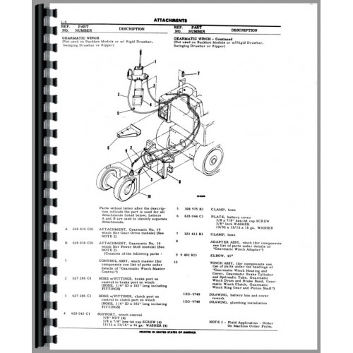 International Harvester TD8C Crawler Parts Manual