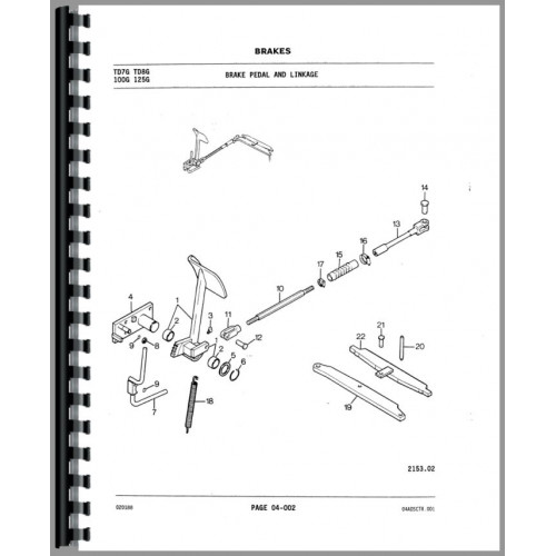 International Harvester 100G Crawler Parts Manual