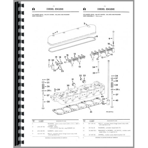 International Harvester TD9 Crawler Parts Manual