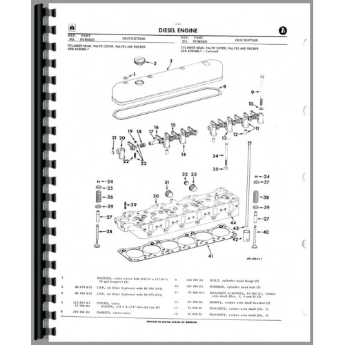 International Harvester TD9 Crawler Parts Manual (Series)