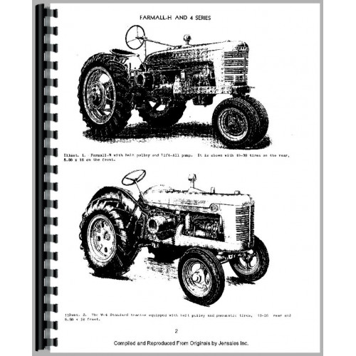 Farmall H Tractor Service Manual (all years, all sn#) (All