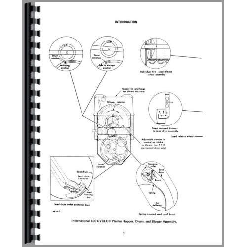 International Harvester 400 Planter Operators Manual