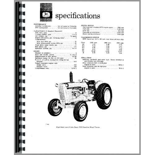 John Deere 1010 Tractor Operators Manual (SN# 0-31000)