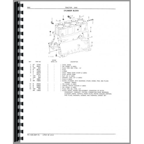 Wiring Diagram Database: John Deere 2640 Parts Diagram
