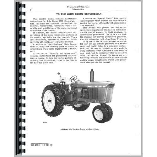 John Deere 3020 Tractor Service Manual (SN# 0-122,999)