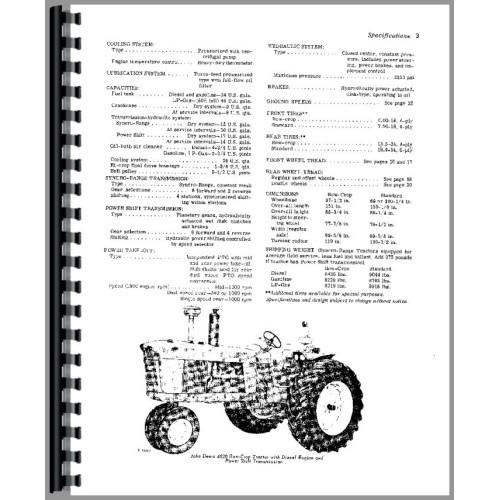John Deere 4020 Tractor Operators Manual (SN# 91000-200999