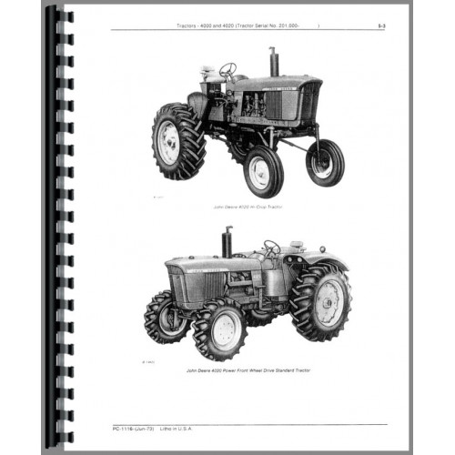 John Deere 4020 Tractor Parts Manual (SN# 201,000 and Up