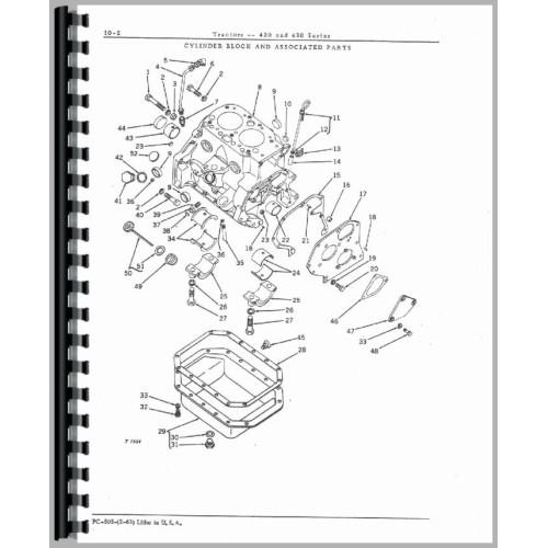 John Deere 420 Tractor Parts Manual