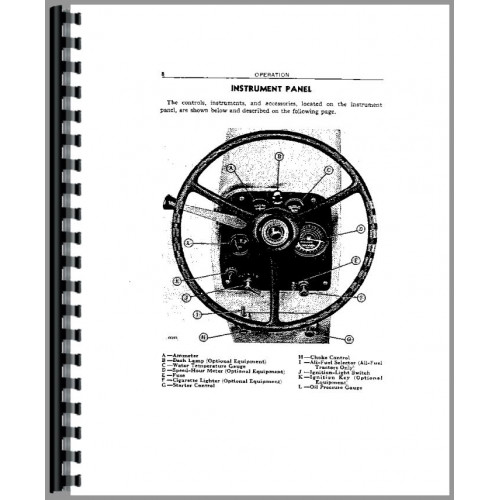 John Deere 430 Tractor Operators Manual