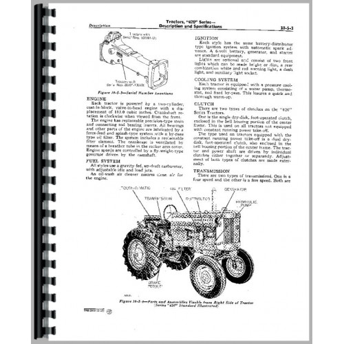 John Deere 420 Crawler Service Manual (for Crawler)