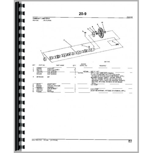 John Deere 4430 Tractor Parts Manual (All)