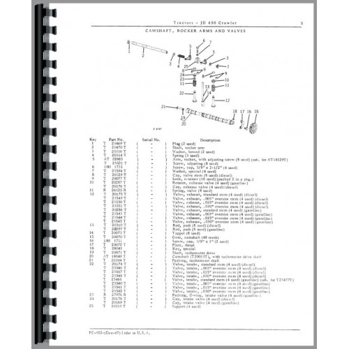 John Deere 450 Crawler Parts Manual