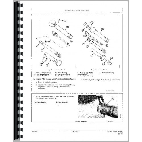 John Deere 346 Square Baler Service Manual