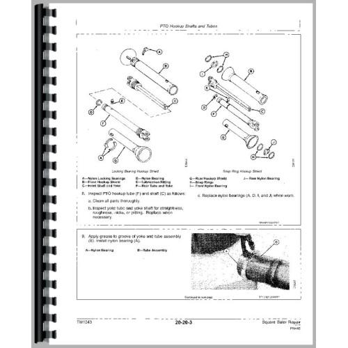 John Deere 346 Square Baler Service Manual