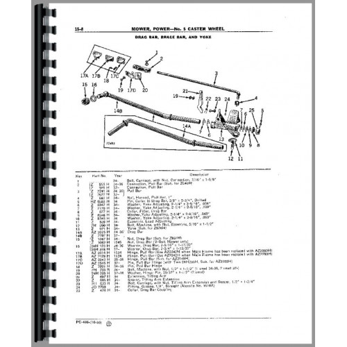 John Deere 5 Sickle Bar Mower Parts Manual