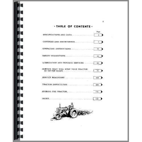 John Deere 50 Tractor Operators Manual