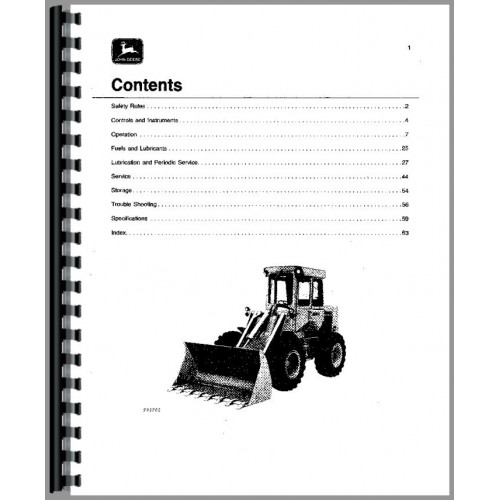 John Deere 544B Wheel Loader Operators Manual