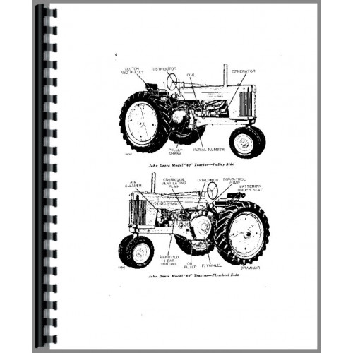 John Deere 60 Tractor Operators Manual