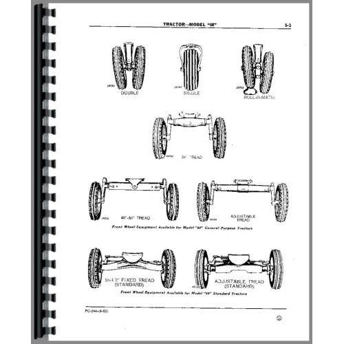 John Deere 60 Tractor Parts Manual