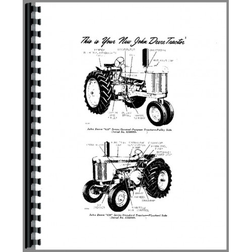 John Deere 630 Tractor Operators Manual (All SNs)