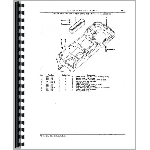 John Deere 620 Tractor Parts Manual