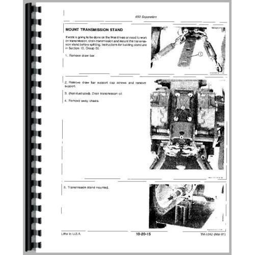 John Deere 650 Tractor Service Manual