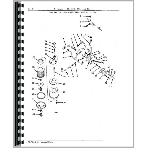 Wiring Diagram: 30 John Deere 830 Parts Diagram