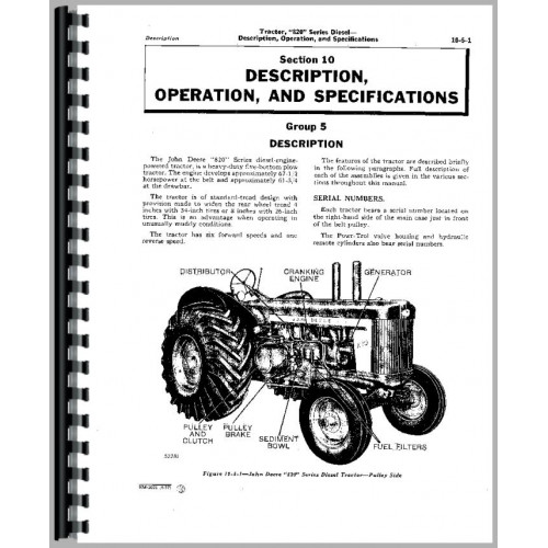 John Deere 820 Tractor Service Manual (2 Cyl w/ Pony Engine)